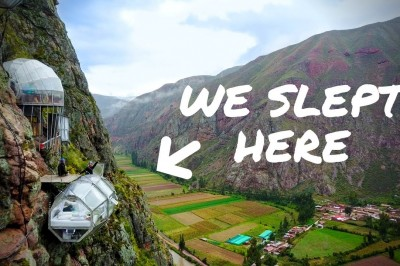 We slept on the side of a Mountain