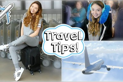 Airplane / Travel Tips + Easy Makeup and Outfit