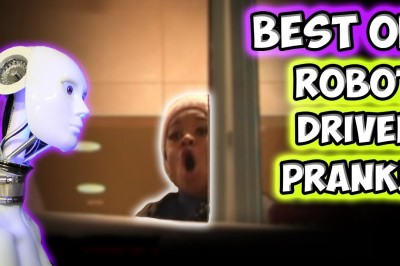 Best of drive thru Robot Prank