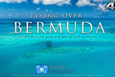 Flying over Bermuda