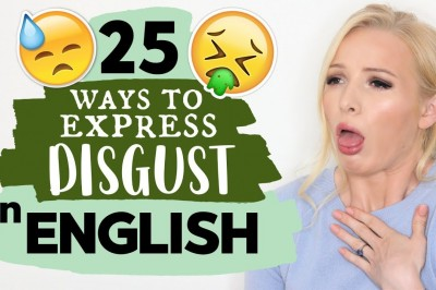 How do we really express disgust in English?