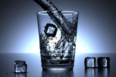 Drinking water to improve your health.